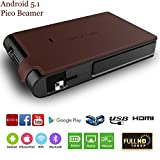 3D Projektor Beamer Heimkino HD Android 5.1 WIFI Bluetooth Mini