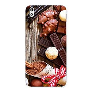 Cute Chocolate Candies Multicolor Back Case Cover for HTC Desire 816s