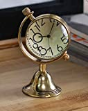 Antique Retro Vintage-Inspired Brass Metal Craft World Globe Table Clock Home Decor - 1.5 Inch best price on Amazon @ Rs. 735