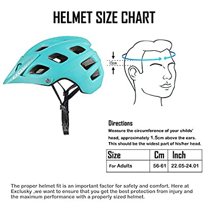 Exclusky Mountain Bike Helmet, Easy Attached Visor Safety Protection Comfortable Lightweight Cycling Mountain & Road Bicycle Helmets for Adult Men Women by Exclusky