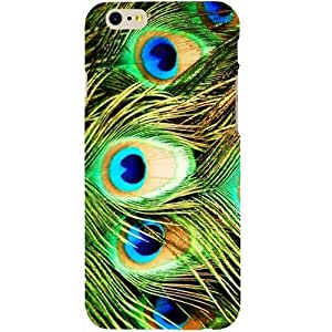 Casotec Peacock Feather Design Hard Back Case Cover for Apple iPhone 6 / 6S