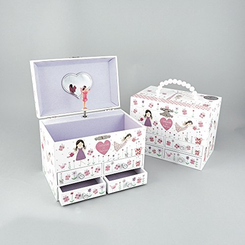 Dancing Fairy Blossom Musical Schublade groß Kinder Jewelry Box Spielt Waltz of The Flowers