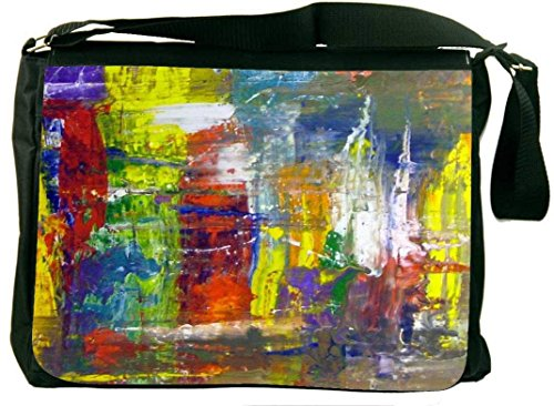 Snoogg Wall Art Abstract Painting Laptop Messenger Bag