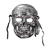 YAZILIND Antiguo Jefe máscara Horror Miedo Esqueleto Pirata Halloween...