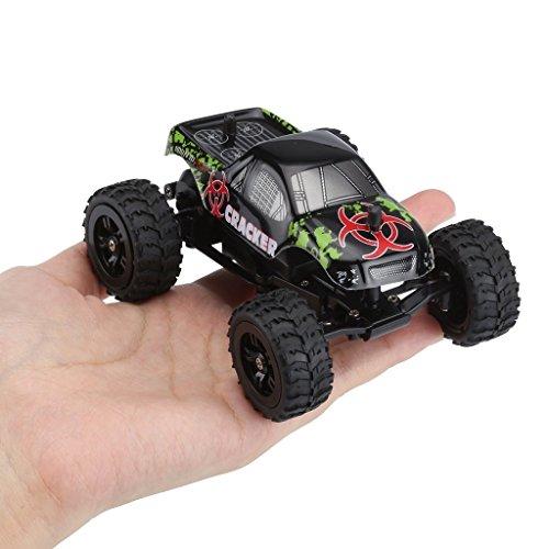 Virhuck 1:32 Escala RC Monster Truck, 2.4GHz 2WD, Radio Control Remoto Buggy Gran Rueda Vehículo Todo Terreno - Negro