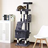 P PURLOVE 175cm Cat Tree Tower Activity Centre with Scratching Posts, Large Cat