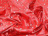 Pailletten Satin Kleid Stoff, Meterware, Rot + Frei Minerva