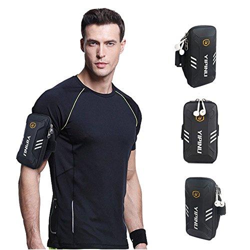 Sport Armband Armtasche, Rennen Sportarmband Outdoor Armband Handytasche Multifunktionale Doppel Armtasche Armbinde für Handy bis zu 6