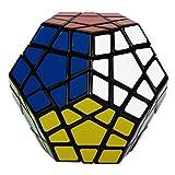Coolzon Megaminx Magic Puzzle Cube rompecabezas, juguete educativo, negro