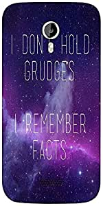 Snoogg Grudges & Facts Designer Protective Back Case Cover For Micromax A116