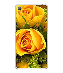 FUSON Designer Back Case Cover for Sony Xperia X :: Sony Xperia X Dual F5122 (Friendship Yellow Roses Chocolate Hearts For Valentines Day)