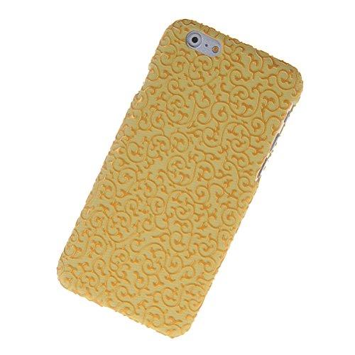 MOONCASE Hard Shell Cover Housse Coque Etui Case Pour Apple iPhone 6 ( 4.7 inch ) Doré Vert Doré Jaune