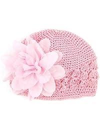 Felicy Bonnet Bébé Fille Garçon Bonnets Coton Crochet Papillons Chapeau  Unisexe Bébé Naissance Tricot Hat Cap d48f60f9894