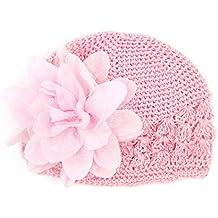 4a8a588d765a Felicy Bonnet Bébé Fille Garçon Bonnets Coton Crochet Papillons Chapeau  Unisexe Bébé Naissance Tricot Hat Cap