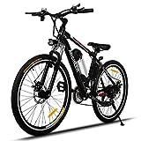 Ancheer Elektrofahrrad 26 Zoll Elektrisches Mountainbike E-Bike Pedelec 250W Hochgeschwindigkeit-Zahnrad -Motors E-Fahrrad mit Abnehmbarer Lithium-Batterie