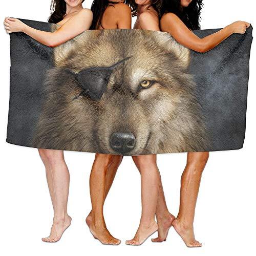 NNMAW Bath Towels,Ultra Absorbent Microfiber Beach Towel for Men Women Kids,Pirate Wolf Picnic ()