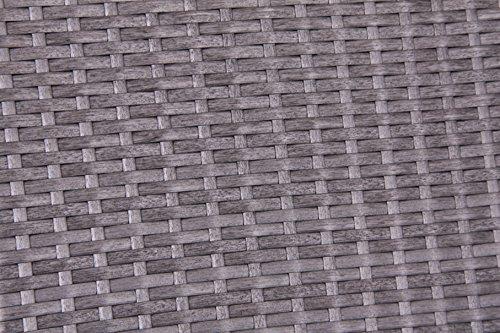 Bukatchi Polyrattan 3-Sitzer Hollywoodschaukel Monte Carlo in silverline grau 254822 - 2