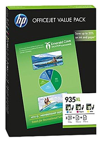 HP 935XL - Cartucho de tinta para impresoras (cian, magenta y amarillo