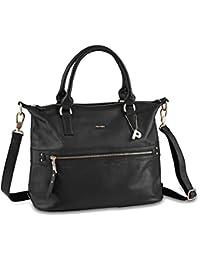 a67279d79bb3a PICARD Damentasche Moa Rindsleder Metall-Details Metallfüße Reißverschluss  verschiedene Farben