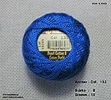 10 gr. Perlgarn, Stärke 8, Farbe: 132, Fabrikat: Anchor, Hardanger