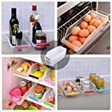 HapiLeap Refrigerator Durable Storage Organizer Fruit Handled Kitchen Collecting Box Basket Rack Stand Basket Container (6Pcs)