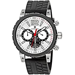 Harding Watch HS0102 Speedmax - Steel case, black silicon strap