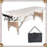 MCDear Table de Massage Pliable 2 Zones En Bois Portable Canapé Lit Tatouage Reiki Massage 15 KG