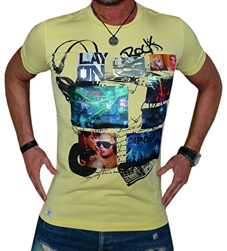 Cipo&Baxx T-Shirt Top Herren Super Optik Grösse XL Gelb