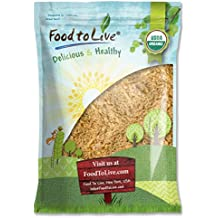 Food to Live Linaza dorada (Molturadas en frio, Semillas de lino crudas en polvo, Harina, no OMG 3.6 Kg