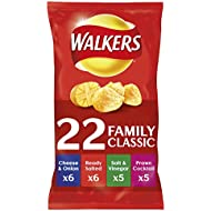 Walkers Classic Variety Crisps, 25g (22 Pack)
