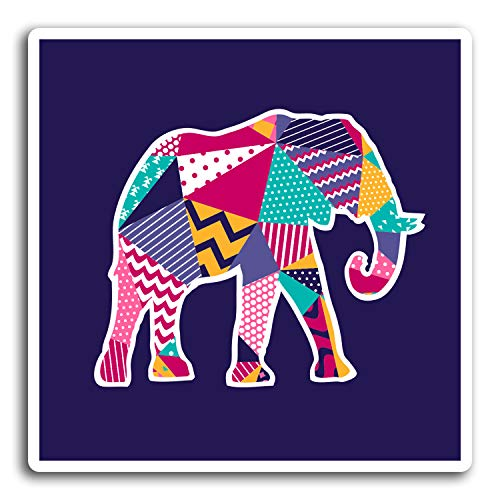 2 x 10 cm bastante divertido elefante pegatinas de vinilo - Portátil Etiqueta de equipaje regalo # 19454 (10 cm de ancho)