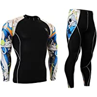 Cycling MTB Motorcycle Workout Running Compression Sportwear Jersey & Pants Suit Y38 L