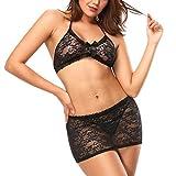 Kinikiss Donna Lace Strappy Underwear Bra & Panty Set Lingerie Sexy Mutandine Body Completo Intimo Sexy Erotico Biancheria Intima Donna