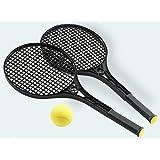 Breimr Softtennis - Raqueta de tenis (65 cm), color negro