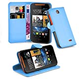Cadorabo Book Case works with HTC Desire 310 in SKY BLUE