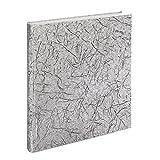 Hama Hochzeitsalbum Caracas (29 x 32 cm, 50 weiße Seiten, 25 Blatt, Fotoalbum für 250 Fotos im Format 10 x 15 cm) silber