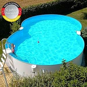 Stahlwandbecken 3,60x6,25x1,20m Einzelbecken Schwimmbecken achtform Pool