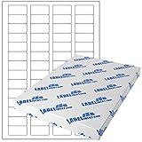 Etiketten - 40 x 20 mm, rechteckig - Gewebe (Nylon), weiß, matt, permanent haftend - 560 Etiketten, DIN A4 Bogen, 10 Blatt - für LASER Drucker