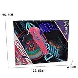 Kefaith Bogenschießen Bogen mit Ziel Kids Plastic Soft Sucker Pfeil Bogenschießen Spiel für Kinder Spielzeug (Farbe : Rose red)