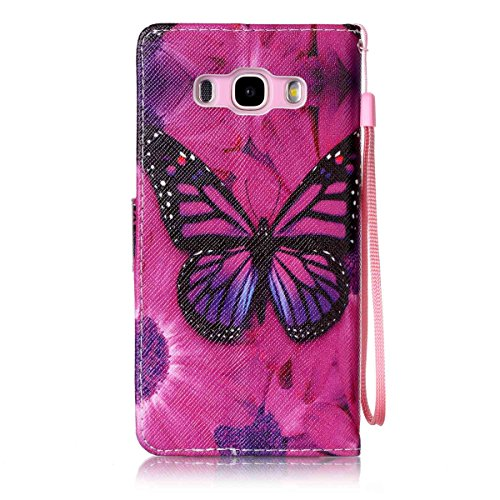 custodia samsung galaxy j5 2016 con farfalle