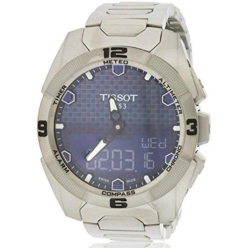 Tissot T091.420.44.041.00T-Touch Expert Montre solaire Cadran bleu Titane Pour homme