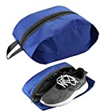 Cmxing Schuhtasche 2er Set Wasserfeste Schuhbeute Reise Koffer Gepäck Schuhsack Reise für Schuhe (Blau)