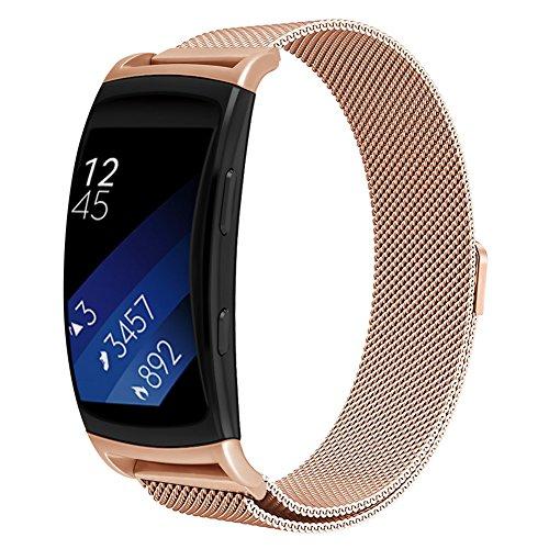 OenFoto per Gear Fit2 PRO /Fit2 Band, Metal Milanese Loop Accessori di Ricambio in Acciaio Inossidabile Bracciale con Cinturino con calamita per Samsung Gear Fit 2 PRO SM-R365 / SM-R360 Smartwatch