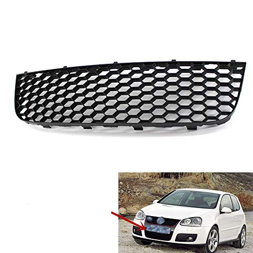 QQKLP Car Front-Center Lower Bumper Grill Grill für MK5 Golf GTI Gt Sport 06-2009 1K0 853 677 B,Schwarz