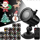 Projecteur Noël LED,Syslux Projecteur Fête,Projecteur Étanche IP65 avec 16...