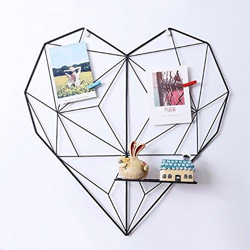ShouYu DIY Grid Panel Foto Wand,ins Mesh Wand,Multifunktion Gitterwand Deko,Memo Brett Organisator Regale (50.5*50cm,Schwarz)