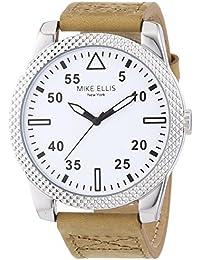 Mike Ellis New York Herren-Armbanduhr XL PETROL Analog Quarz Leder SL4318/1