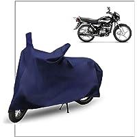 FABTEC Motorcycle Bike Body Cover for Hero Splendor Plus (Blue)