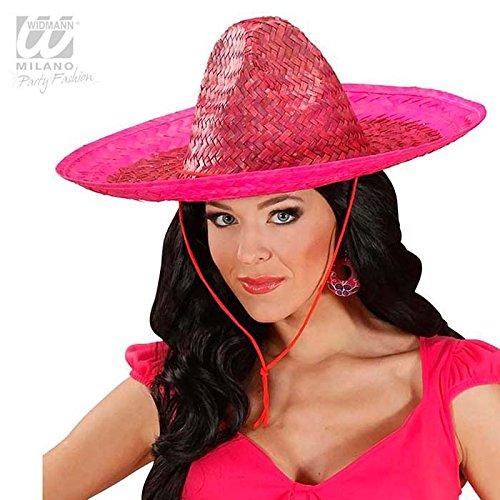 Widmann 1428G - Rosa mexikanischer Sombrero für Erwachsene (Kinder Sombrero Hut)