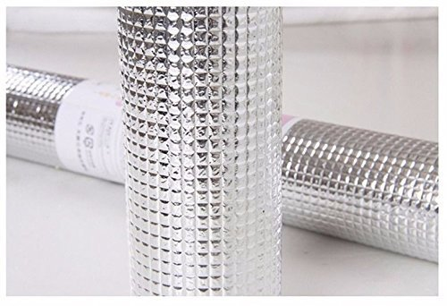 Multipurpose Easy To Cut Cupboard Shelf Drawer Aluminum Silver Sheet Roll - Size: 45 X 300 Cm.,aluminium Cupboard Sheet